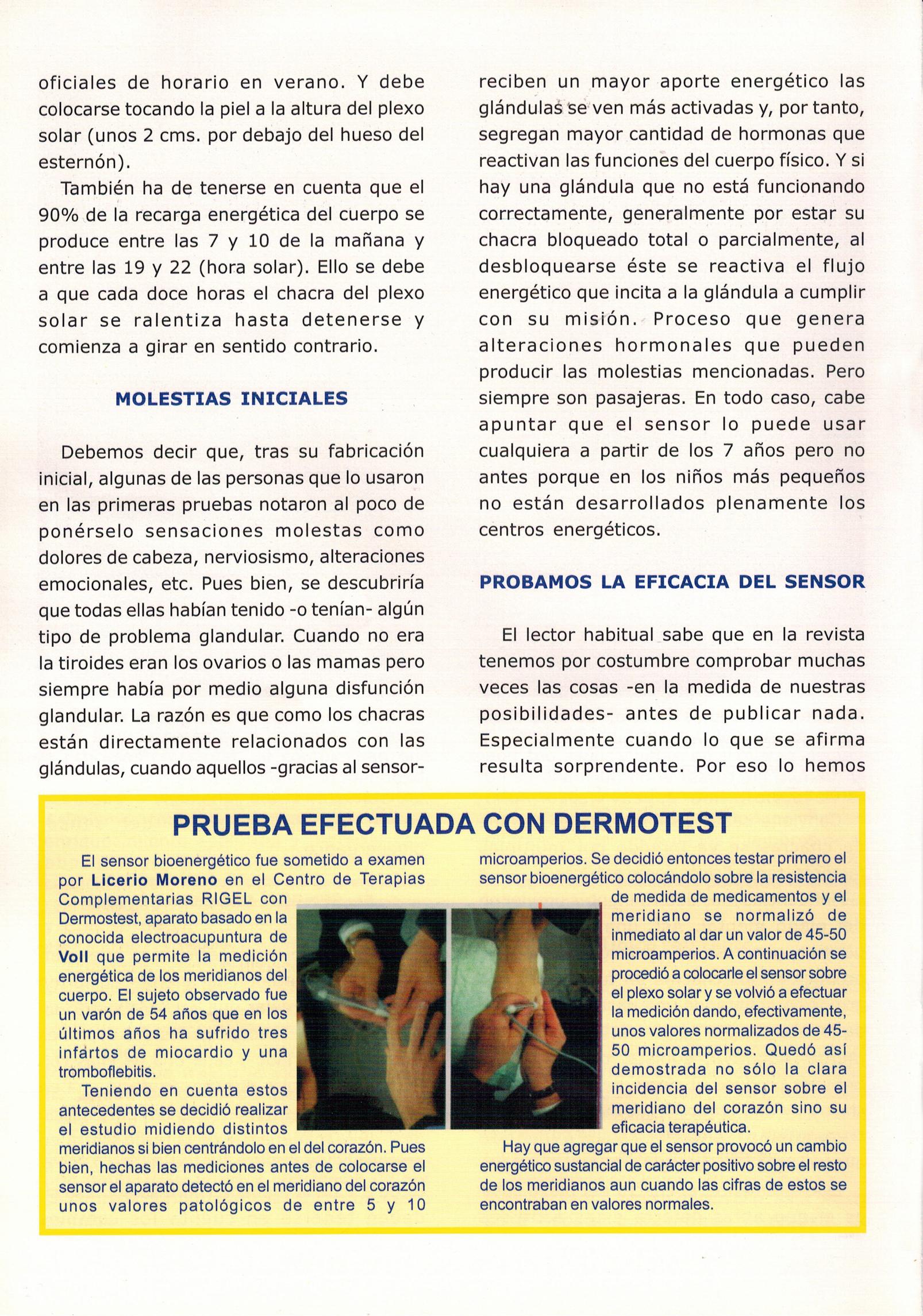 ¡OFERTA DE SENSORES BIOENERGÉTICOS!