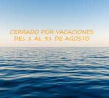 Cerrado el mes de agosto por vacaciones